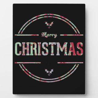 Plaque Photo Salutation de Joyeux Noël