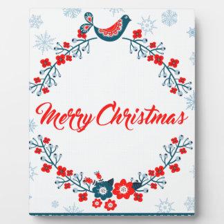 Plaque Photo salutation de Noël de Joyeux Noël