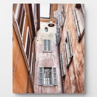 Plaque Photo Scène de ville de l'Italien IMG_1785 2
