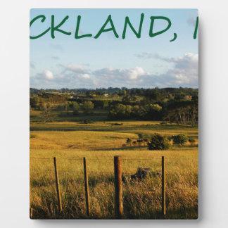 Plaque Photo Scène d'or de paysage