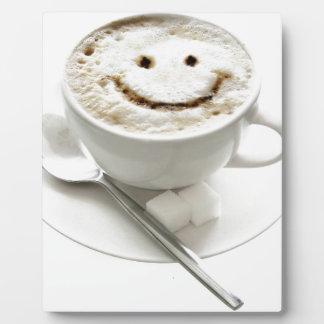Plaque Photo Smiley de café
