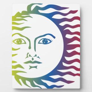 Plaque Photo Solaire léger chaud de visage coloré