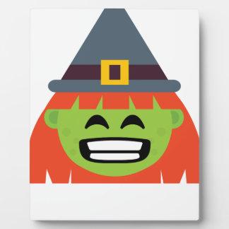 Plaque Photo sorcière tout l'Emoji Halloween