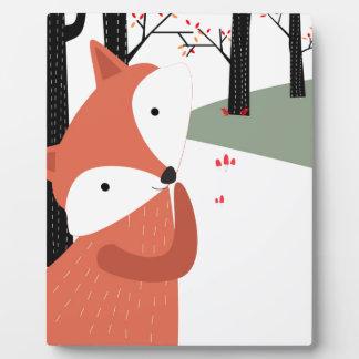 Plaque Photo Sourire mignon vintage de loup de renard de bébé