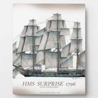 Plaque Photo Surprise 1796 de voie HMP âgée
