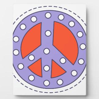 Plaque Photo Symbole de paix