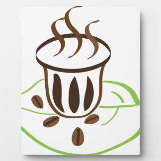 Plaque Photo Temps de café