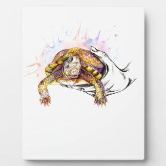 Plaque Photo Tenir une tortue