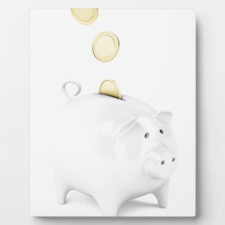 Plaque Photo Tirelire avec les pièces de monnaie d'or