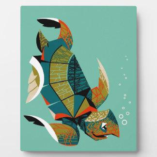 Plaque Photo Tortue de mer australienne gaie
