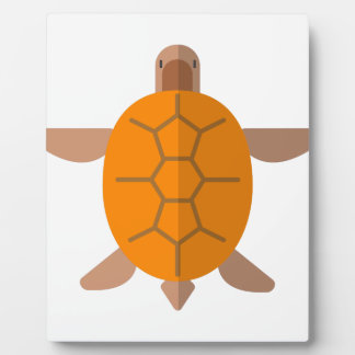 Plaque Photo Tortue de style primitif ci-dessus
