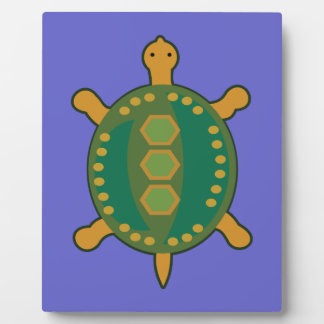 Plaque Photo Tortue tribale