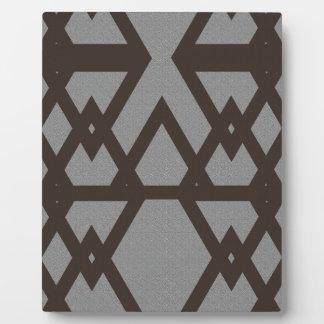 Plaque Photo Triangle et motif gris de diamant