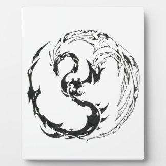 Plaque Photo tribal dragon