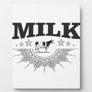 Plaque Photo Vache à noir de lait d'étoile