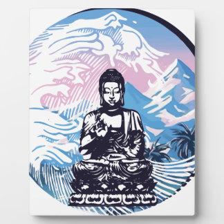 Plaque Photo Vague de montagne tropicale de Bouddha