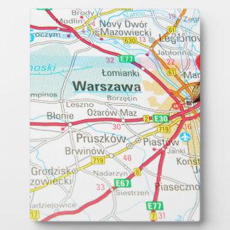 Plaque Photo Varsovie, Varsovie en Pologne