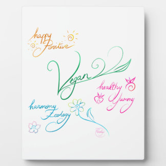 Plaque Photo Vegan & happy lifestyle