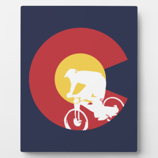 Plaque Photo Vélo de montagne le Colorado
