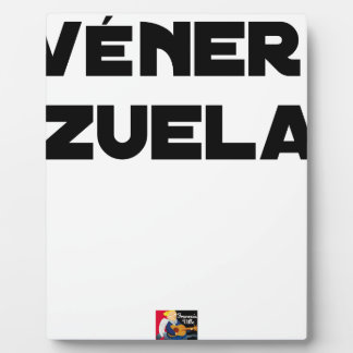 Plaque Photo VÉNER-ZUELA - Jeux de mots - Francois Ville
