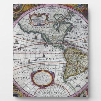 Plaque Photo vieille carte Amériques