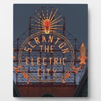 Plaque Photo Ville électrique de Scranton