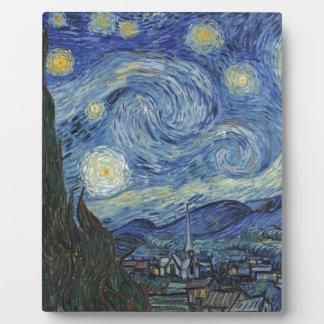 Plaque Photo Vincent van Gogh   la nuit étoilée, juin 1889