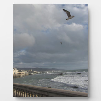Plaque Photo Vue de terrasse de Mascagni dans un jour nuageux