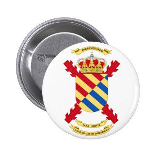 Plaque pin. Unité Militaire d'Urgences espagnole Badge Rond 5 Cm