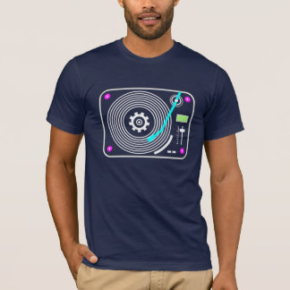 Plaque tournante au néon t-shirt