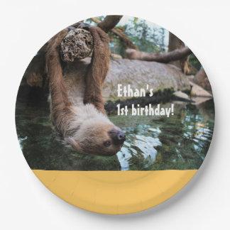 Plaques à papier d'anniversaire personnalisable de assiettes en papier