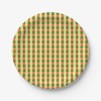 Plaques à papier de contrôle de pastèque assiettes en papier
