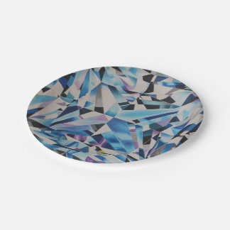 """Plaques à papier de diamant en verre 7"""" assiettes en papier"""