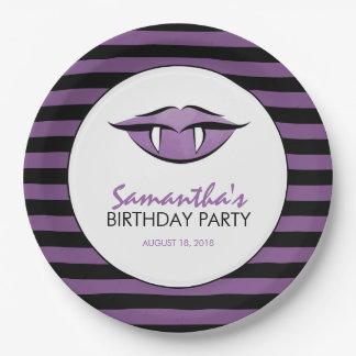 Plaques à papier de fête d'anniversaire de Goth de Assiettes En Papier