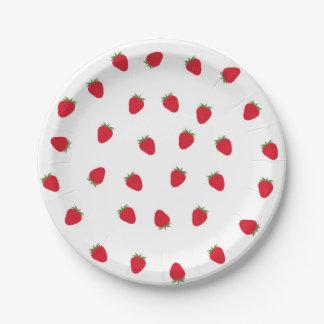 Plaques à papier de fraise assiettes en papier