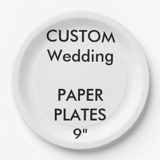 Plaques à papier de grand mariage jetable fait sur assiettes en papier