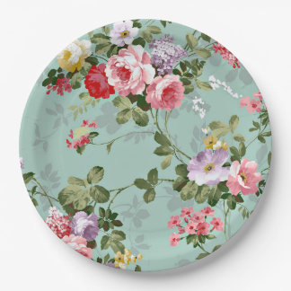 motif floral vintage assiettes motif floral vintage. Black Bedroom Furniture Sets. Home Design Ideas