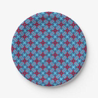 Plaques à papier de kaléidoscope   bizarre de Tiki Assiettes En Papier