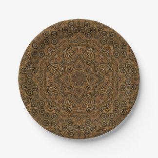 Plaques à papier   de kaléidoscope de rouages assiettes en papier
