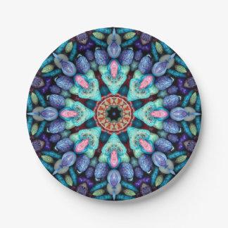 Plaques à papier de kaléidoscope   en pierre de assiettes en papier