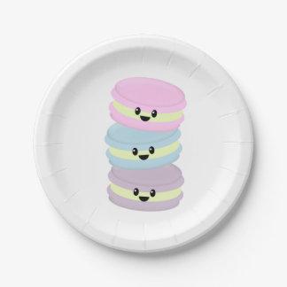 Plaques à papier de macaron assiettes en papier