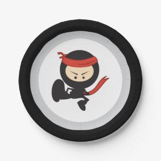 Plaques à papier de Ninja Assiettes En Papier