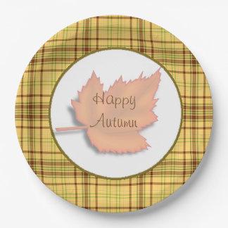 Plaques à papier de partie de feuille d'automne assiettes en papier