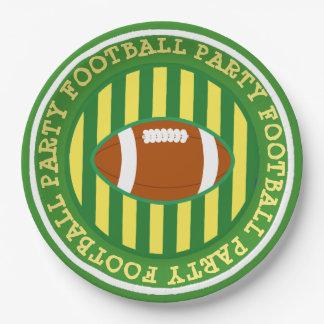 Plaques à papier de partie du football du assiettes en papier