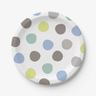Plaques à papier de pois de pastels d'anniversaire assiettes en papier