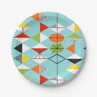 Plaques à papier de rétro motif de harlequin assiettes en papier