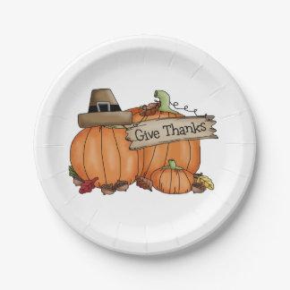 Plaques à papier de thanksgiving/citrouilles faits assiettes en papier