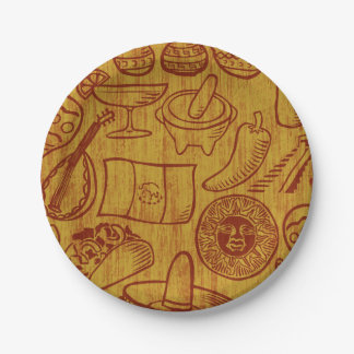 Plaques à papier du Mexique de fiesta Assiettes En Papier
