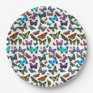 Plaques à papier en abondance de papillons assiettes en papier