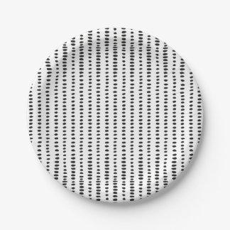 Plaques à papier géniales, noires et blanc assiettes en papier